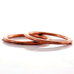 Exhaust Pipe Crush Gasket / Copper Sealing Rings. Triumph 2, 3 Cyl Carb Models. Sold in Pairs. SKU: T2200229